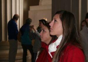 Students at Lincoln Memorial