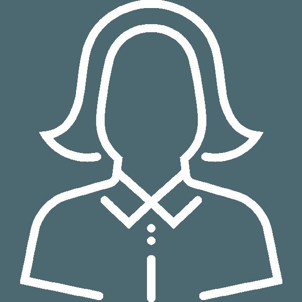 business or teacher female icon