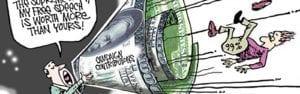 Political Cartoon campaign money finance