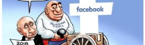 political cartoon facebook election Russia