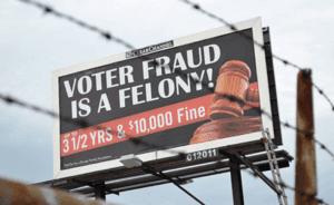vote bill board fraud