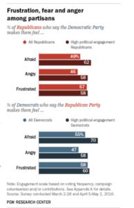 Partisan split feelings