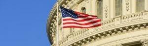 Capitol Building American Flag
