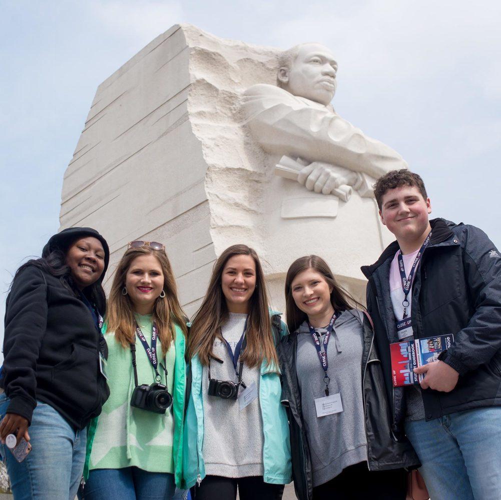 Students at MLK memorial