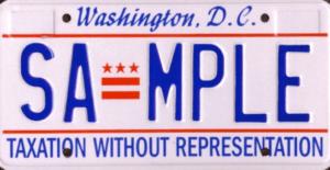 DC License Plate Car
