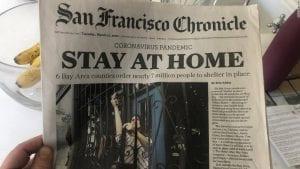 Lockdown Newspaper Headline