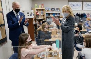 Joe and Jill Biden at School